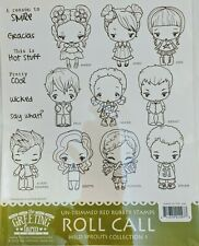 Roll Call Kit The Greeting Farm Cling Rubber Stamp Wild Sprouts Retired
