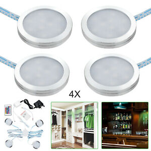 RGB LED Remote Control Light Under Kitchen Cupboard Cabinet Lights Spotlight Kit