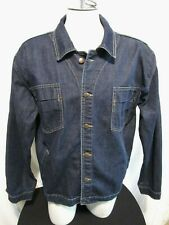 United Colors of Benetton Blue Family Dark Blue Denim Jean Jacket Men Size XL