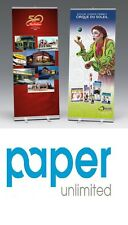7 Mil Gloss Roll Up Banner Blockout Gray Back  36″ X 100′ Roll Hp Canon Epson