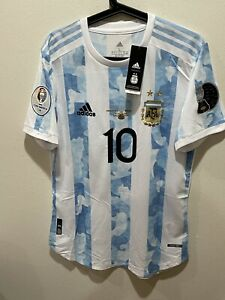Adidas New Players Version L Argentina Messi Soccer Jersey Copa America 2021