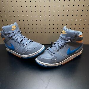 Boys Nike Prestige IV High Top-585618-001-Gray Athletic Shoes Sneakers- Sz 6.5Y