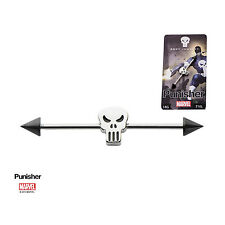 Marvel Comics Punisher Symbol Barbell Body Jewelry Stainless Steel Nwt Cosplay