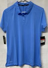 Nike Golf Dry Polo Womens Blue Dri-Fit Collar Shirt 884871 Large Free shipping