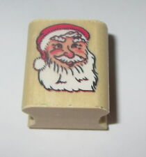 Santa Claus Rubber Stamp New Christmas Wood Mounted Noteworthy