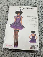 Leg Avenue Women's 3 Piece Pretty Parisian Clown Costume, Purple, Harlequin