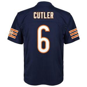 Jay Cutler NFL Chicago Bears Mid Tier Replica Home Navy Jersey Boys SZ (4-7)