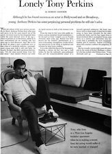 Lonely Anthony Perkins WHY HE DOESN'T GET MARRIED Gay Interest 1960 Article