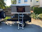 Space Camping Trailer With Pop Up Hard Shell Tent
