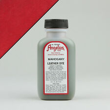 Angelus MAHOGANY LEATHER DYE 3oz Bottle Industry Strength Dye Vibrant Colors