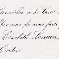 Henriette Elisabeth Lenain Paris 1856 Baron Félix Cottu