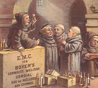 Boyers Cordial Remedy New York Carmelite Melissa Friar Monastery Winery Ad Card