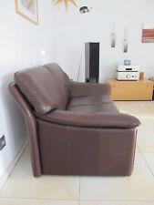 Ledercouch, 2 Sitzer, Echtleder braun, neuwertig, von Fa. Laauser,