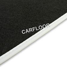 Für BMW 3er Coupe E36 ab 2.90 Fußmatten Velours Deluxe schwarz Nubukband weiß