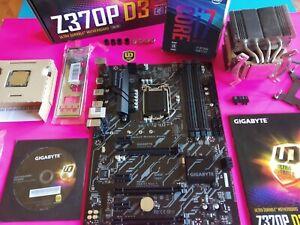 COMBO i7 8700K (12 HILOS 4,7GHz) + GIGABYTE Z370P-D3 + NOCTUA NH-D9L 8 HEAT PIPE