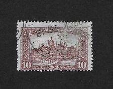 "Hungary Stamp 1920-1924 Parliament - Inscription "" Magyar Kir Posta"" 10 Kr (E2)"