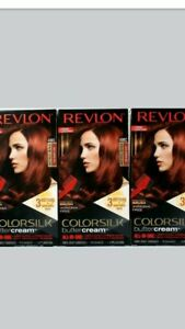 3 Revlon Colorsilk Buttercream Vivid Hair Color 49RC Deep Copper Red All In One