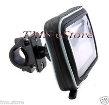 "5"" GPS Water Proof Case + Bike Motorcycle Mount TOMTOM VIA 120 1400 1405 1435 TM"