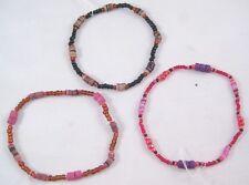 12 New Wholesale Closeout Glass Bead Puka Shell Stretch Bracelets #B1135