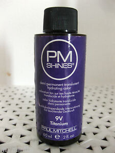 Paul Mitchell PM SHINES Demi-Perm Hydrating Color CHOICE Series 7-9 or 10 min @