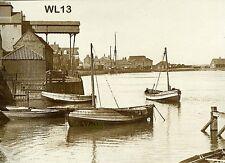 North Norfolk Postcard - Wells next the Sea - The Harbour circa 1921 - WL13