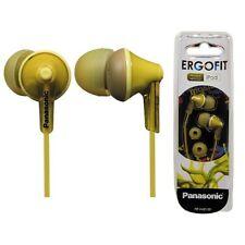 Panasonic RP-HJE125-Y Stereo In Ear Canal Bud Ergofit Headphones RPHJE125 Yellow