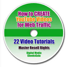 How to CREATE YouTube Videos for Internet Marketing Web Traffic - 22 VIDEOS +MRR