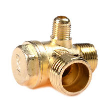 Air Compressor 3-Port Brass Male Threaded Check Valve Connector Tool RRZY