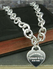 Please Return to Tiffany & Co. 925 Sterling Silver Heart Tag Necklace