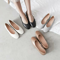 Women Genuine Leather Ballet Flats Shoes Comfort Slip On Loafers Ballerina Flats