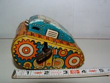 * 1950s MARX # 5 TIN-LITHO WIND-UP ROLL OVER TOY TANK
