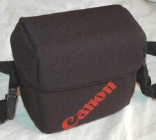 Vtg CANON CAMERAS SHOULDER BAG Lens LOGO Soft Padded RARE Belt Loop