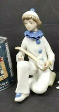 Vintage Porcelain Figurine Casades Spain Decorative Clown Minstrel Banjo