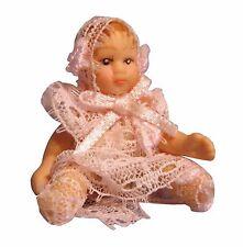 1:12 Scale Dolls House Baby Boy & Girl In Blue & Pink Nursery Accessory 156-7