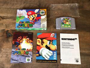 Super Mario 64 N64 game, original box, booklet; tested; Nintendo 64