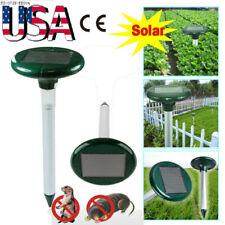2-20x Solar Ultrasonic Sonic Mouse Gopher Mole Pest Rodent Repellent Repeller