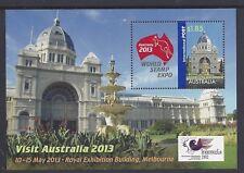 Australia 2013 World Stamp Expo Mini Sheet Ovpt Indonesia 2012