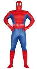 Costume vestito Spiderman, uomo ragno adulto Carnevale, party g80797