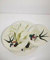 Red Wing Capistrano Swallow Flowers Set of 3 Plates; Dinner Salad Dessert