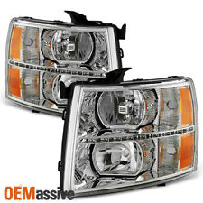 2007-2013 Chevy Silverado 1500 2007-2014 2500HD 3500HD Clear LED Headlights Lamp