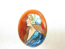BEAUTIFUL VINTAGE  FRENCH LIMOGES ENAMEL Plaque FOR RE-SETTING by Paul Buforn