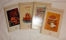 Vintage lot of 4 spiral bound cookbooks