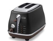Delonghi Vintage Icona CTOV 2103.BK Toaster Retro +Brötchenaufsatz CTOV2103 2103