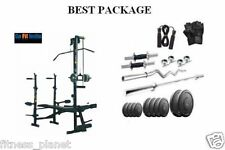 Combo Home Gym Set 20 In 1 Bench+ 100 Kg Weight + 5 Ft Plain + 3 Ft Curl Rod