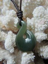 BC Jade Maori Pikora Twist Leather Tribal Surfer Surf Necklace