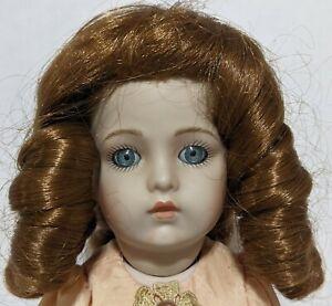 "Modern Reproduction All Bisque Porcelain 12"" Bru Doll"