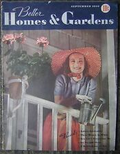 Sept., 1938 Better Homes & Gardens Magazine - Backpage Wheaties Ad with Mel Ott