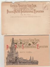 PAN PACIFIC EXPO 1915 OFFICIAL MINIATURE VIEW BOOK-50 VIEWS