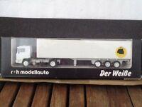 R+H MODELLAUTO 02009 MAN LKW-Sattelzug Der Weiße OVP 1/87, limitiert 1000 Stück