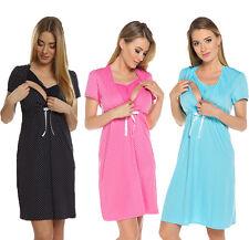2 in1 Maternity & nursing 100% cotton nightdress nightshirt nighty size 7002D
